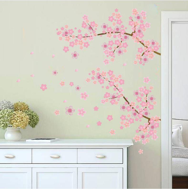 Muursticker bloesemtak muurstickers for Kinderzimmer rosa