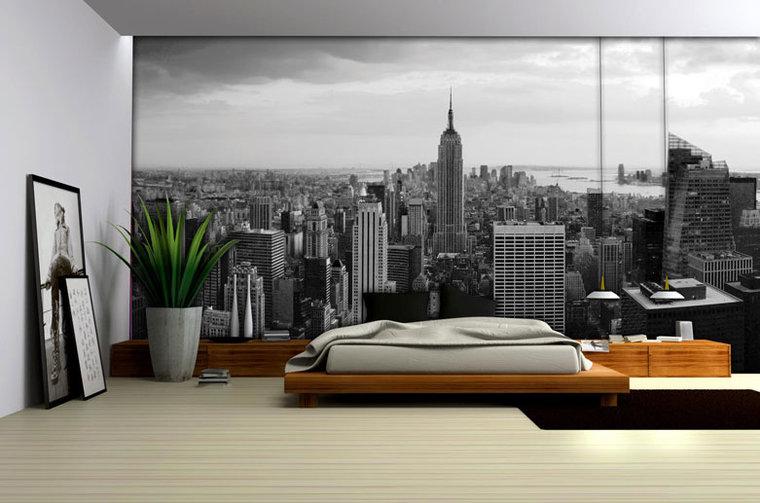 Behang new york kinderkamer posters for Black and white new york mural wallpaper