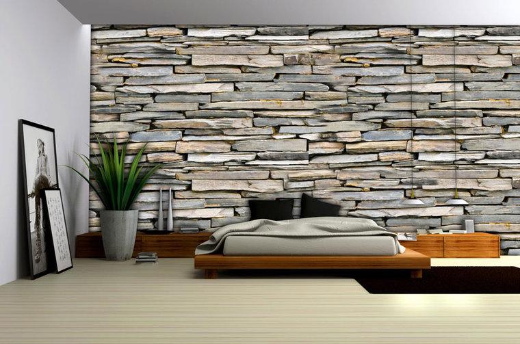 Behang Met Patroon : Behang steentjes behang kinderkamer