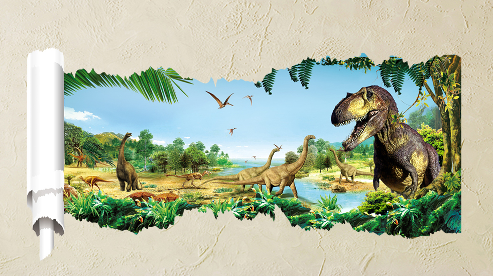 Muurstickers Dinosaurussen 2016