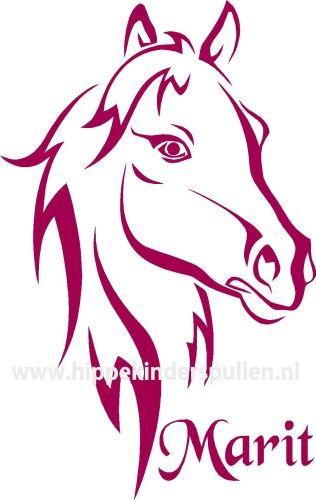 Paarden Sticker Muur.Muursticker Paard Met Naam Muursticker Met Naam