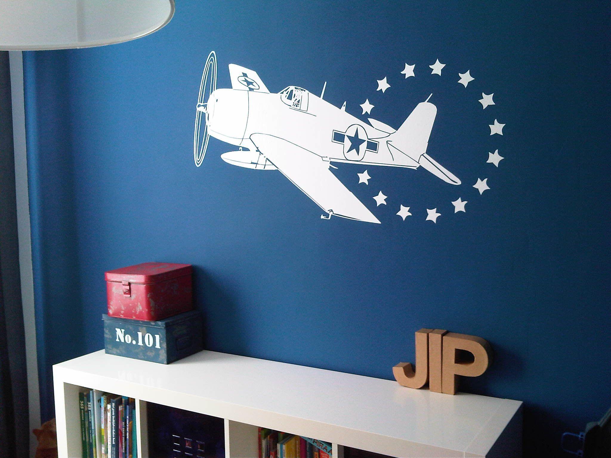 Muursticker vliegtuig muurstickers - Muur kamer kind ...