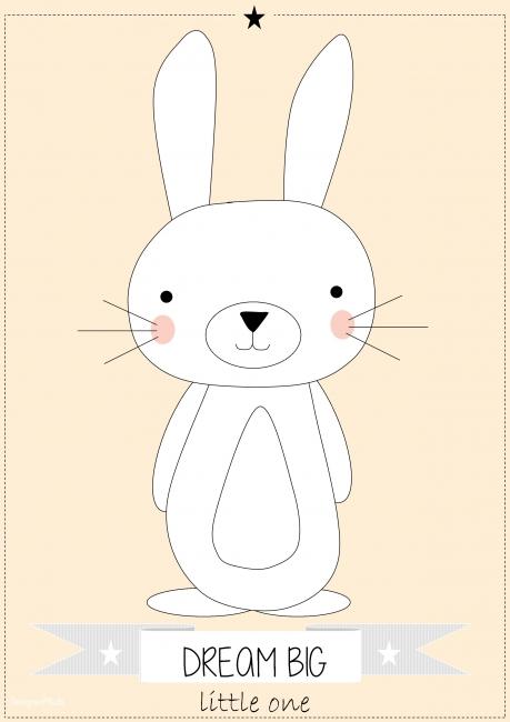 poster konijn  babykamer posters, Meubels Ideeën