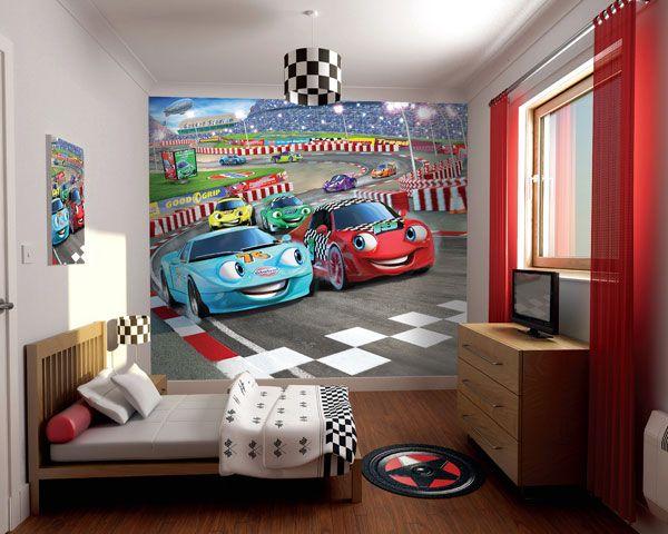 Behang Voor Kinderkamer : Posterbehang auto behang kinderkamer