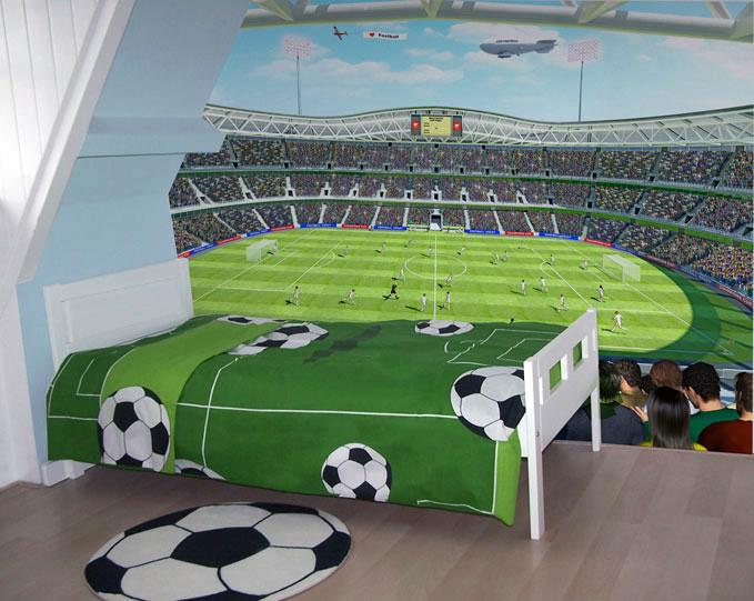 Behang Kinderkamer Voetbal : Posterbehang voetbal behang kinderkamer