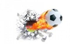 Muursticker voetbal muur