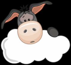 geboortebord tuin ezel met wolkje