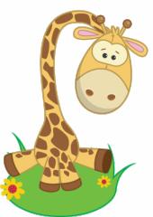geboortebord tuin giraffe
