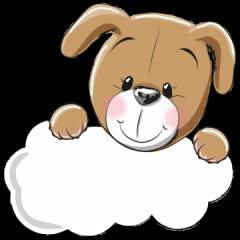geboortebord tuin hondje met wolkje