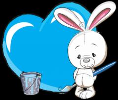 geboortebord tuin konijntje blauw