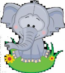 geboortebord tuin olifantje
