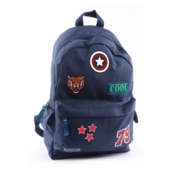 Skooter rugtas badge and patch blauw