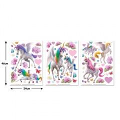 muursticker eenhoorns, eenhoorn stickers, sticker unicorn