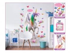 muursticker eenhoorn, eenhoorn sticker, sticker unicorn