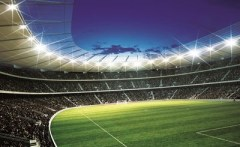 Behang voetbal stadion XXL