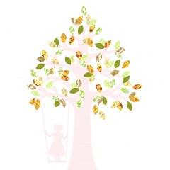 Behangboom schommel retro groen 2