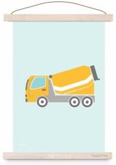 Poster cementwagen