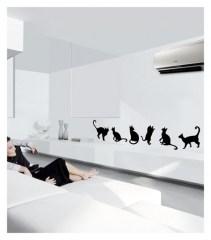 Muursticker Coart cats