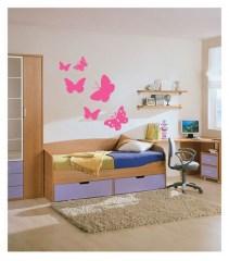 Muursticker Coart butterfly roze