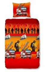 Dekbedovertrek brandweermannen