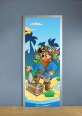 deursticker piraat