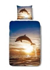 Dekbedovertrek dolfijnen