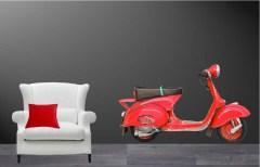 Muursticker scooter