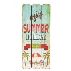 Houten wandbord enjoy summer holiday