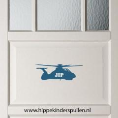 Muursticker helikopter met naam