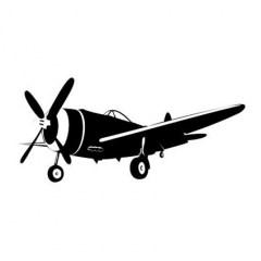 Muursticker vliegtuig b
