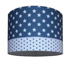kinderlamp ster jeansblauw, hanglamp jeansblauw sterren