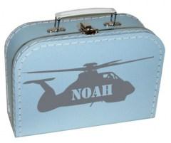 Koffertje met helikopter en naam