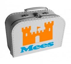 Koffertje met kasteel en naam