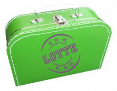 Koffertje met stempel en naam