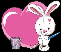 geboortebord tuin konijntje roze
