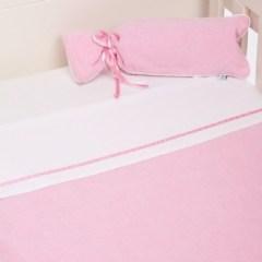Little Dutch ledikantdeken pastel roze