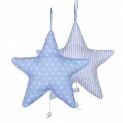 Little Dutch muziekdoos ster lichtblauw