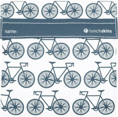 Lunchskin blauw bicycle