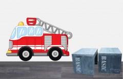 Muursticker brandweerauto