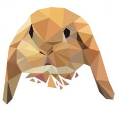 Muursticker diamond konijntje