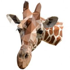 muursticker diamond giraf, muursticker giraf, giraf sticker