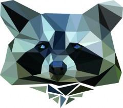 Muursticker diamond wasbeer