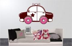 Muursticker politie
