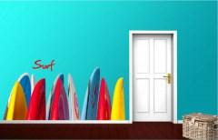 Muursticker surfplanken