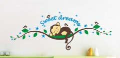 Muursticker sweet dreams, muursticker aapje