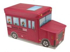 Opbergbox schoolbus rood