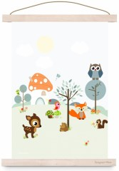Poster forest friends blue