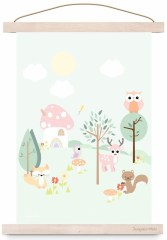 Poster forest friends pastel