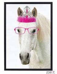 Poster paard met kroon