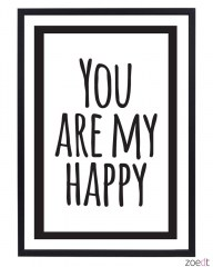 Poster You are my happy